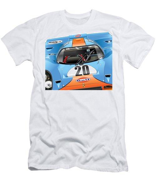 Porsche 917 Illustration Men's T-Shirt (Slim Fit) by Alain Jamar