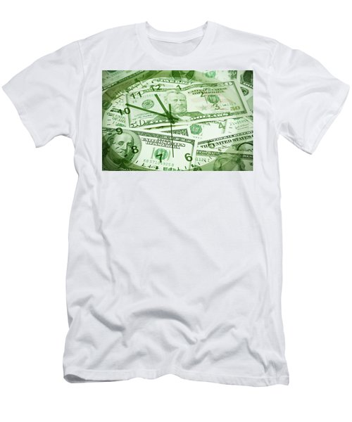 Men's T-Shirt (Slim Fit) featuring the photograph Time Is Money  by Les Cunliffe