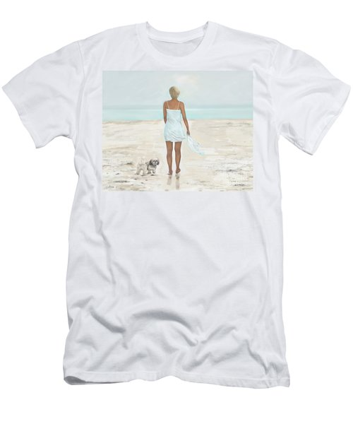 Men's T-Shirt (Athletic Fit) featuring the painting A Beautiful Walk by Leslie Allen