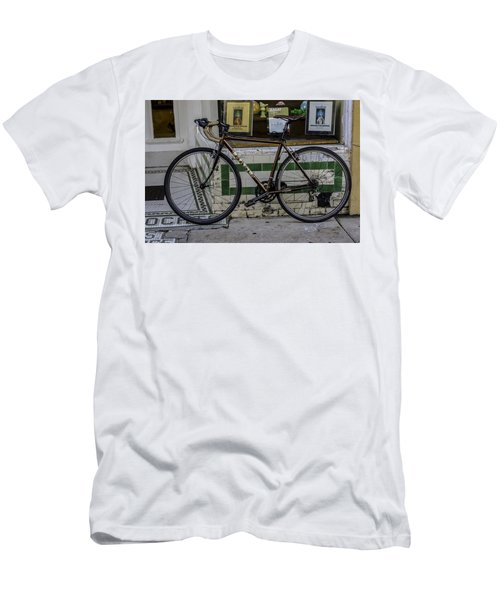 A Bicycle In The French Quarter, New Orleans, Louisiana Men's T-Shirt (Athletic Fit)