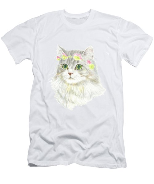 A Bohemian Princess With Flower Hair Garland Men's T-Shirt (Athletic Fit)