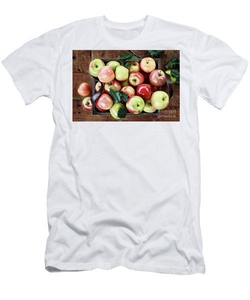Men's T-Shirt (Slim Fit) featuring the photograph A Bushel Of Apples  by Stephanie Frey