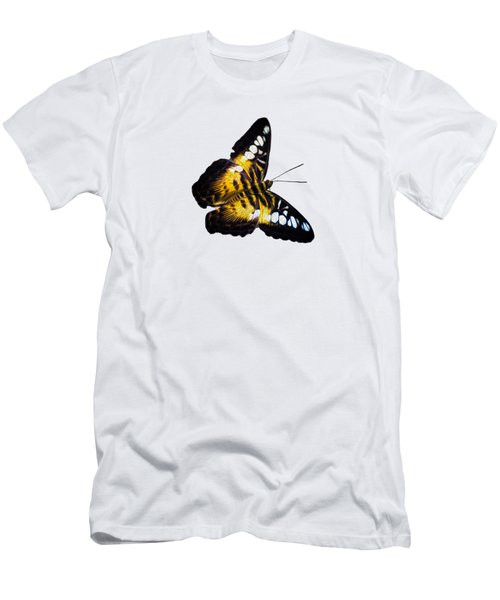A Butterfly In The Forest Men's T-Shirt (Slim Fit) by Mark Andrew Thomas