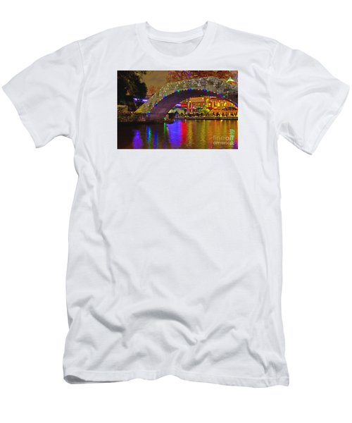 A Casa Rio Christmas On The Riverwalk Men's T-Shirt (Athletic Fit)