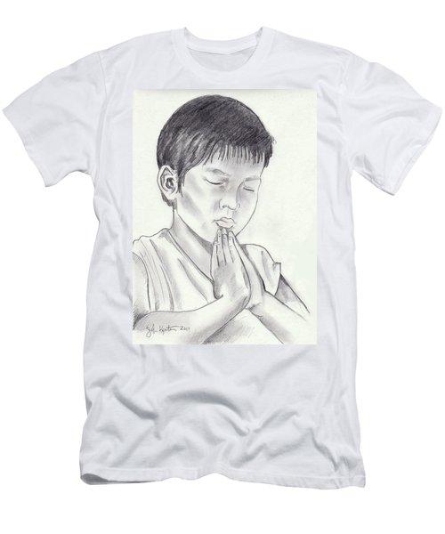A Child's Prayer Men's T-Shirt (Slim Fit) by John Keaton
