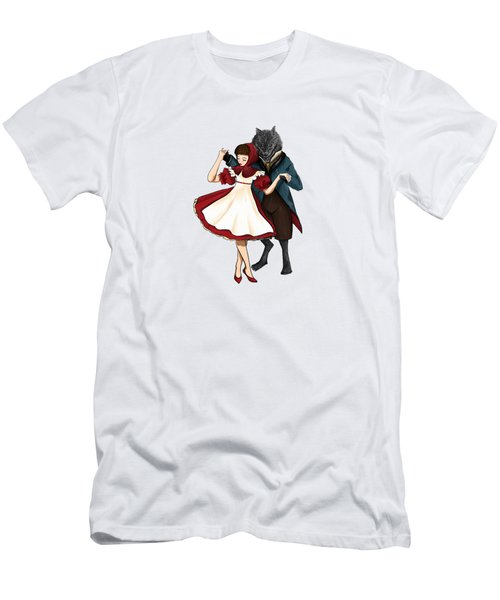 A Dangerous Dance Red Hood And The Wolf Art Print Men's T-Shirt (Athletic Fit)