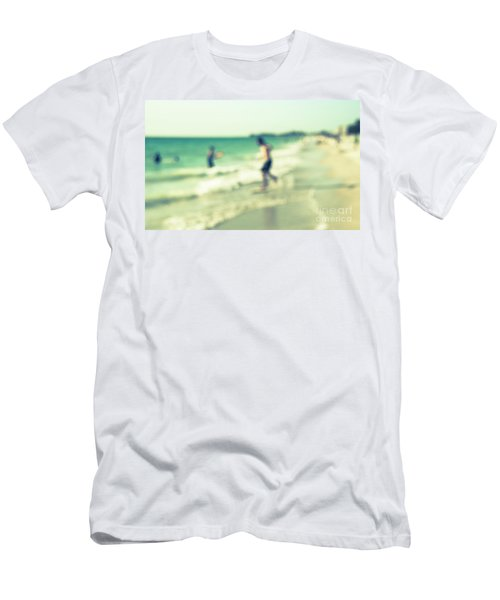 Men's T-Shirt (Slim Fit) featuring the photograph a day at the beach III by Hannes Cmarits