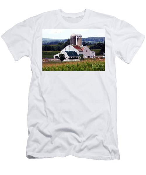Men's T-Shirt (Slim Fit) featuring the photograph A Farmer's Paradise by Polly Peacock