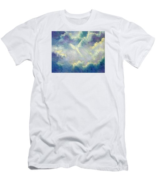 Men's T-Shirt (Slim Fit) featuring the painting A Gift From Heaven by Marina Petro