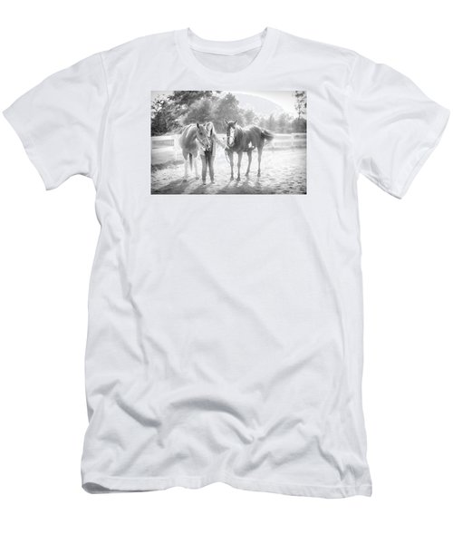 Men's T-Shirt (Slim Fit) featuring the photograph A Girl With Horses by Kelly Hazel