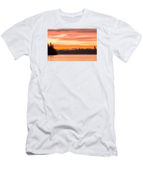 Men's T-Shirt (Slim Fit) featuring the photograph A Glaze Of Orange by E Faithe Lester