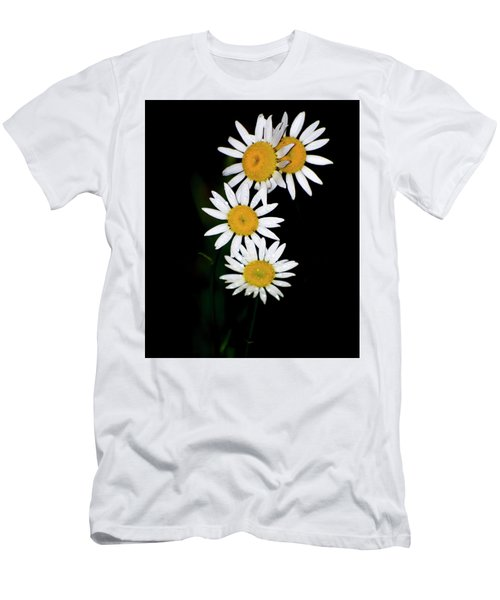 Men's T-Shirt (Slim Fit) featuring the digital art A Group Of Wild Daisies by Chris Flees