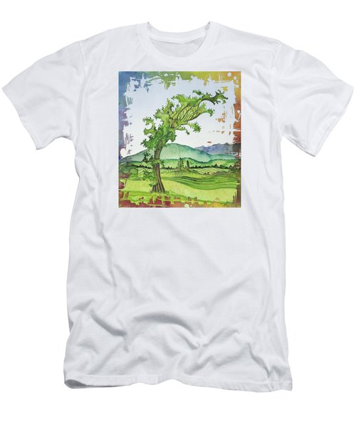 A Kale Leaf Visits The Country Men's T-Shirt (Slim Fit) by Carolyn Doe