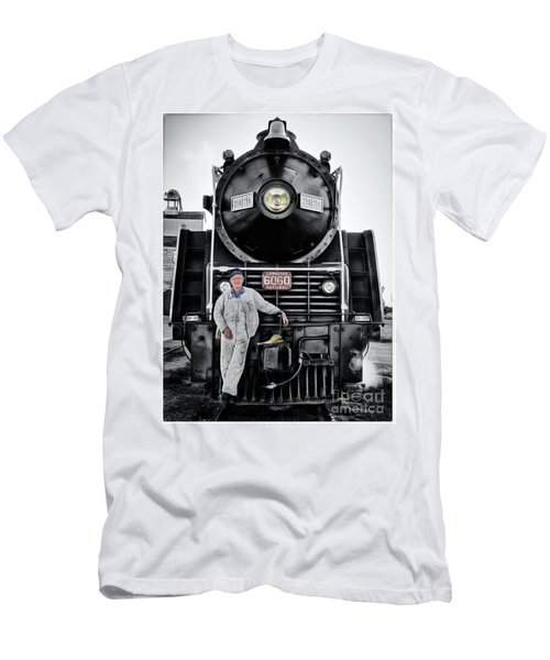 A Man And His Locomotive Men's T-Shirt (Athletic Fit)