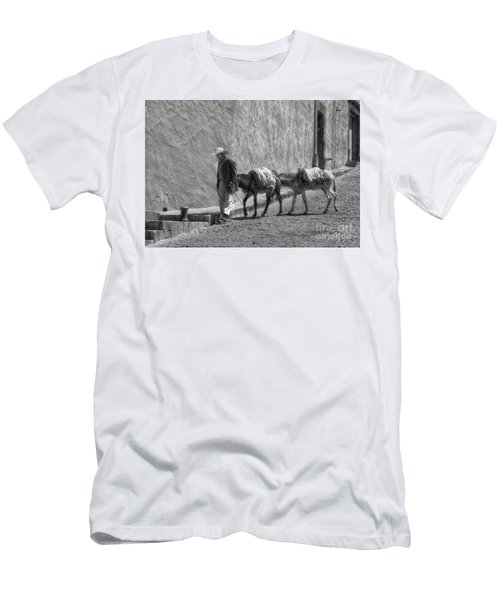 A Man With Two Burros Men's T-Shirt (Athletic Fit)