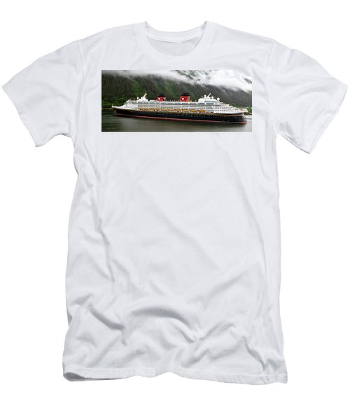 A Mickey Mouse Cruise Ship Men's T-Shirt (Athletic Fit)