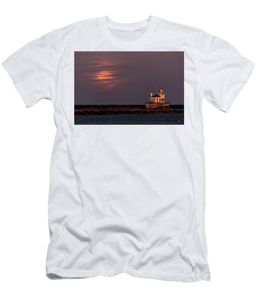 Men's T-Shirt (Slim Fit) featuring the photograph A Moonsetting Sunrise by Everet Regal