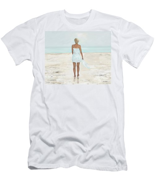 Men's T-Shirt (Athletic Fit) featuring the painting A Natural Beauty by Leslie Allen