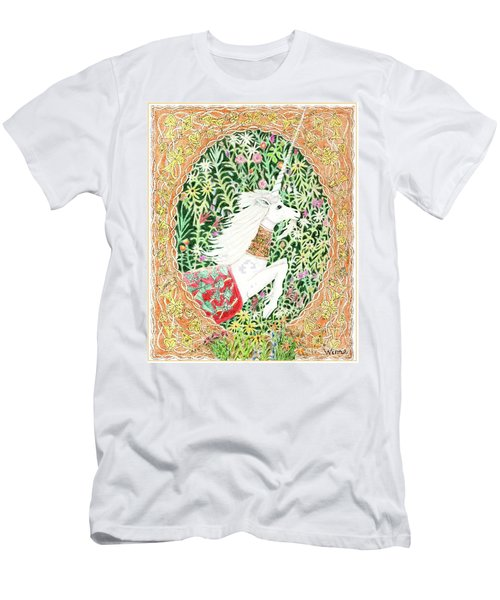 Men's T-Shirt (Athletic Fit) featuring the painting A Pawn Escapes Limited Edition by Lise Winne