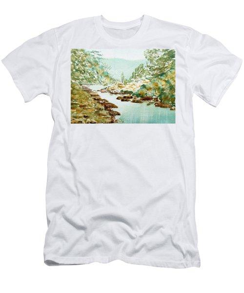 A Quiet Stream In Tasmania Men's T-Shirt (Athletic Fit)