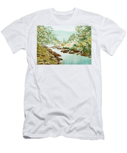 A Quiet Stream In Tasmania Men's T-Shirt (Athletic Fit)