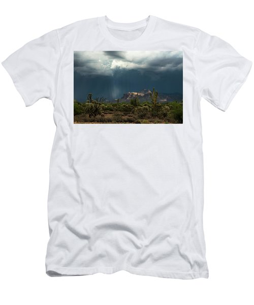 Men's T-Shirt (Athletic Fit) featuring the photograph A Rainy Evening In The Superstitions  by Saija Lehtonen