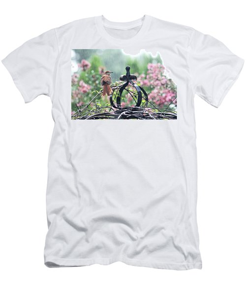 Men's T-Shirt (Athletic Fit) featuring the photograph A Rainy Summer Day by Trina Ansel