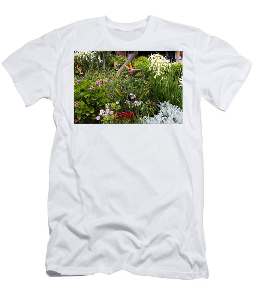 Men's T-Shirt (Slim Fit) featuring the photograph A Riot Of Flowers by Lorraine Devon Wilke