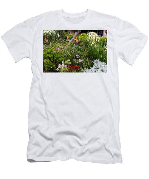 A Riot Of Flowers Men's T-Shirt (Slim Fit) by Lorraine Devon Wilke
