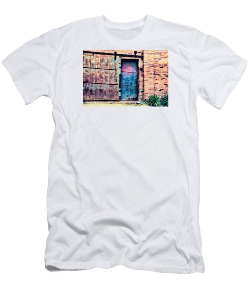 A Rusty Loading Dock Door Men's T-Shirt (Slim Fit) by Diana Mary Sharpton