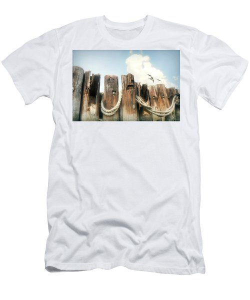 It's A Shore Thing Men's T-Shirt (Slim Fit) by Diana Angstadt
