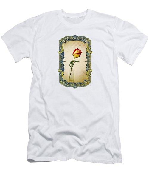 A Single Rose Men's T-Shirt (Slim Fit) by Larry Bishop