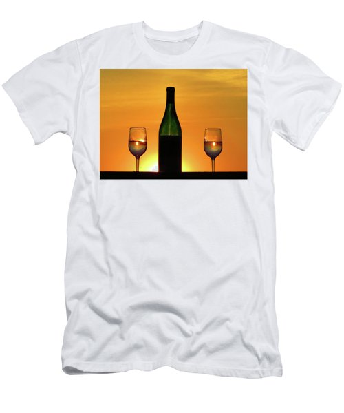 A Sunset In Each Glass Men's T-Shirt (Athletic Fit)