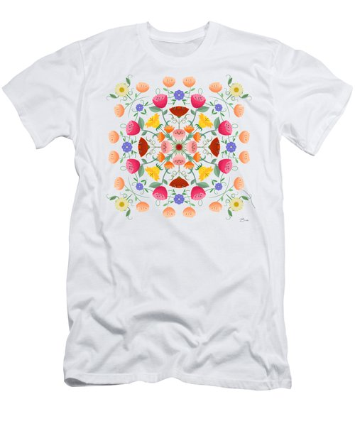 A Symphony Of Dancing Floral Delights Men's T-Shirt (Athletic Fit)