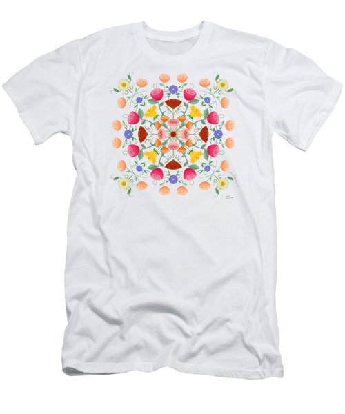 A Symphony Of Dancing Floral Delights Men's T-Shirt (Athletic Fit)