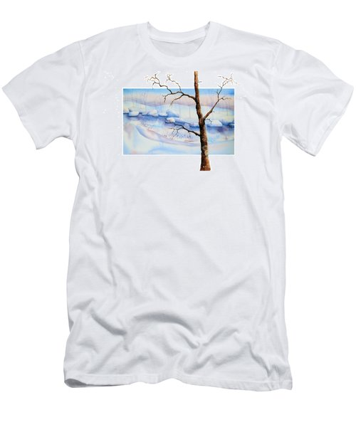 A Tree In Another Dimension Men's T-Shirt (Slim Fit) by Debbie Lewis