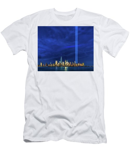 Men's T-Shirt (Athletic Fit) featuring the photograph A Tribute At Dusk by Chris Lord