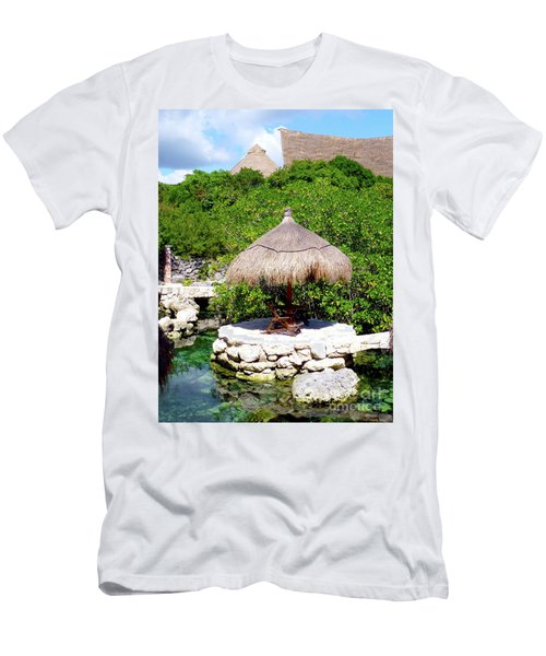 Men's T-Shirt (Athletic Fit) featuring the photograph A Tropical Place To Relax by Francesca Mackenney