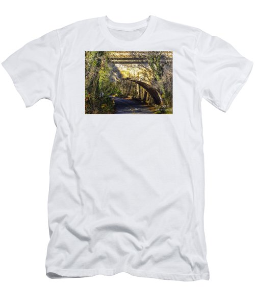 Men's T-Shirt (Slim Fit) featuring the photograph A Tunnel By The River by Melissa Messick