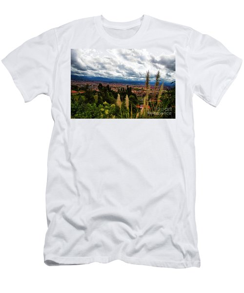 A Vista Of Cuenca From The Autopista Men's T-Shirt (Athletic Fit)