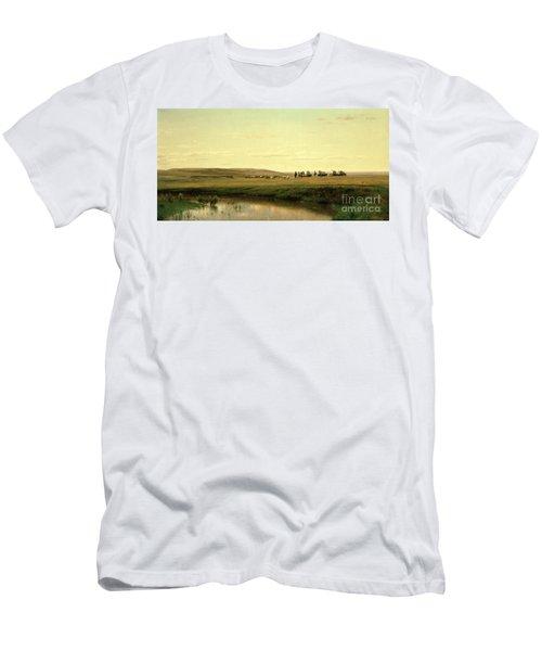 A Wagon Train On The Plains Men's T-Shirt (Athletic Fit)
