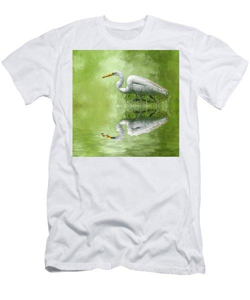 A Walk In The Marsh Men's T-Shirt (Slim Fit) by Cyndy Doty