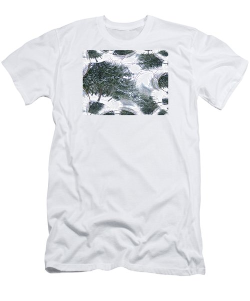 A Winter Fractal Land Men's T-Shirt (Slim Fit) by Skyler Tipton