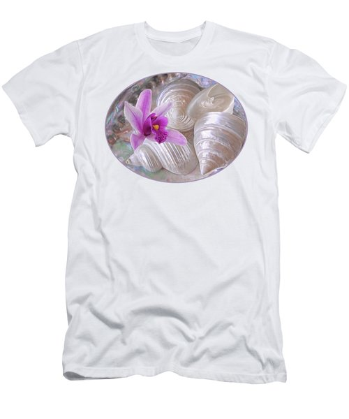 Abalone With Pearl Shells And Purple Orchid Men's T-Shirt (Athletic Fit)