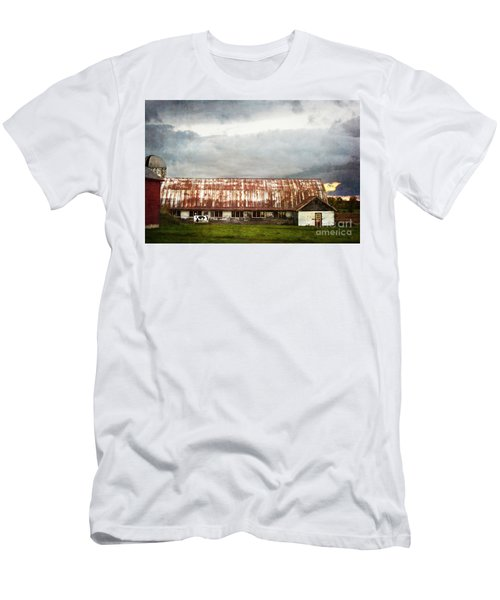 Abandoned Dairy Farm Men's T-Shirt (Slim Fit) by Judy Wolinsky