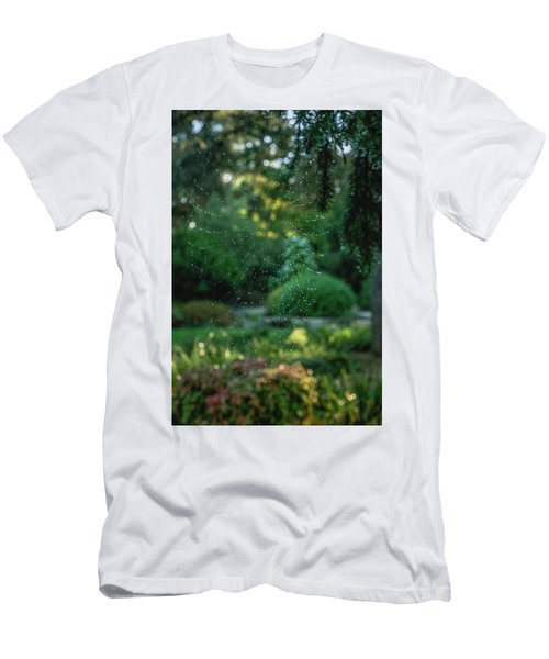 Men's T-Shirt (Athletic Fit) featuring the photograph Morning Web by Gene Garnace