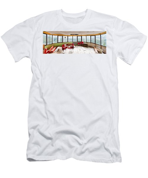 Abandoned Tower Restaurant - Urban Panorama Men's T-Shirt (Athletic Fit)