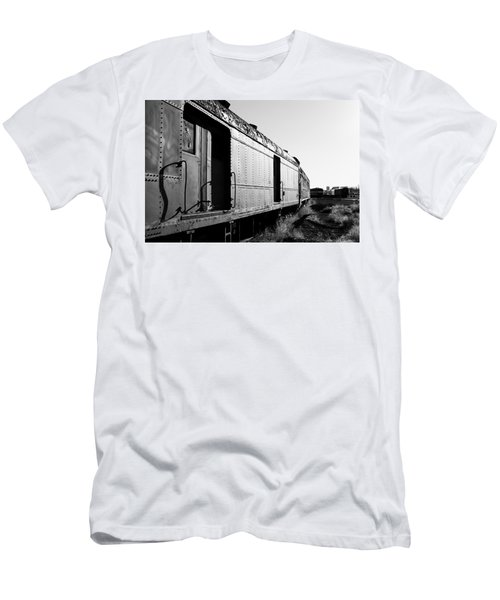 Abandoned Train Cars Men's T-Shirt (Athletic Fit)
