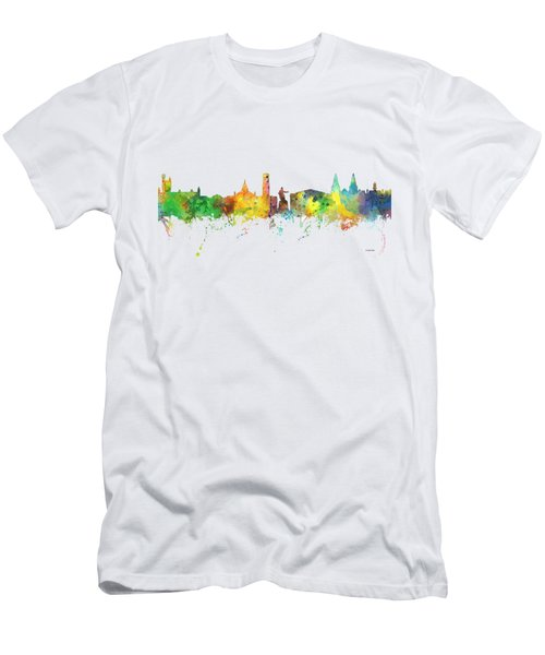 Aberdeen Scotland Skyline Men's T-Shirt (Slim Fit)