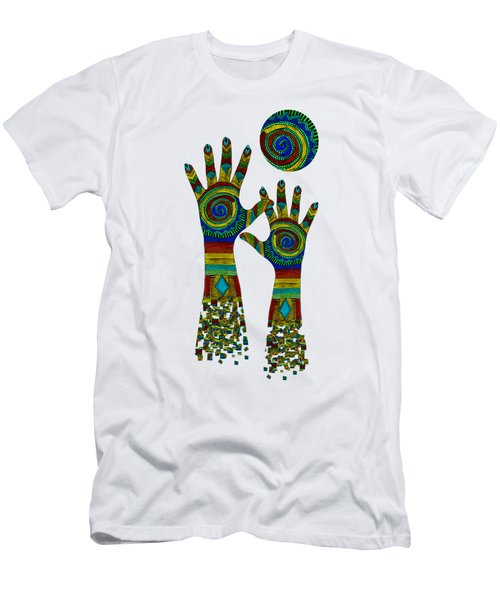 Aboriginal Hands Gold Transparent Background Men's T-Shirt (Athletic Fit)